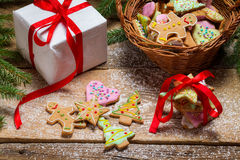 Gingerbread cookies as a nice Christmas gift Stock Images