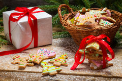 Gingerbread cookies as a nice Christmas gift Stock Photography