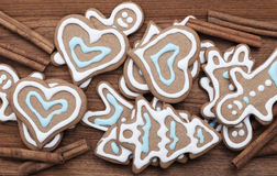 Gingerbread cookies background Royalty Free Stock Image