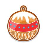 Gingerbread cookies ball. Illustration of Merry Christmas sweets.  Stock Photos