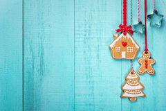 Gingerbread Cookies Border Royalty Free Stock Photo