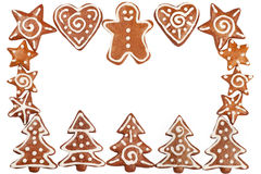 Gingerbread cookies border Stock Photo