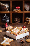 Gingerbread cookies in box Stock Photos