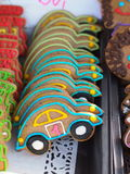 Gingerbread cookies in a car shape Stock Image