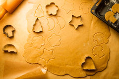 Gingerbread cookies for Christmas Royalty Free Stock Photo