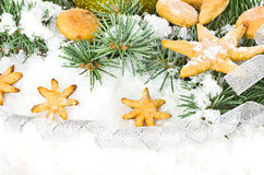 Gingerbread cookies, Christmas Stock Images