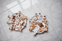 Gingerbread cookies or christmas cookie. Close up Royalty Free Stock Photo
