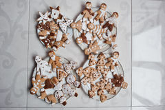 Gingerbread cookies or christmas cookie. Close up Royalty Free Stock Images