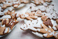 Gingerbread cookies or christmas cookie. Close up Royalty Free Stock Photos