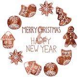 Gingerbread cookies and christmas decoration Stock Image