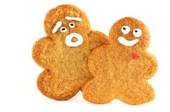 Gingerbread cookies for Christmas Royalty Free Stock Image