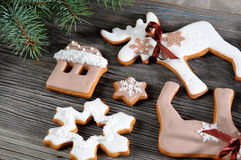 Gingerbread cookies for Christmas Stock Photos