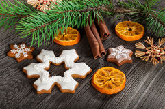Gingerbread cookies for Christmas Royalty Free Stock Photography