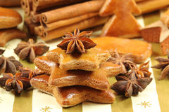 Gingerbread cookies - Christmas tree Stock Image