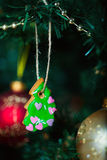 Gingerbread cookies on Christmas tree Stock Image