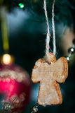 Gingerbread cookies on Christmas tree Royalty Free Stock Photo