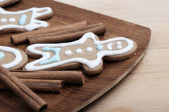 Gingerbread cookies close-up Stock Images