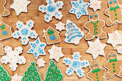 Gingerbread cookies closeup Royalty Free Stock Images