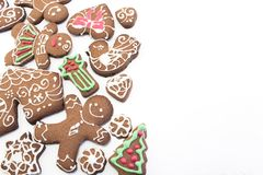 Gingerbread  Cookies with Copy Space Royalty Free Stock Photo