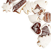 Gingerbread cookies with copy space below Stock Photo