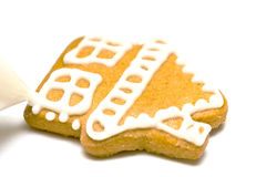 Gingerbread cookies - decorating Stock Image