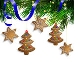 Gingerbread cookies decorations Royalty Free Stock Photography