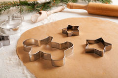 Gingerbread cookies dough preparation recipe with Stock Photos