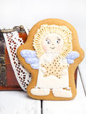 Gingerbread cookies for the feast of Easter a Angel Royalty Free Stock Image