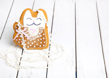 Gingerbread cookies for the feast of Easter a Cat Stock Photos