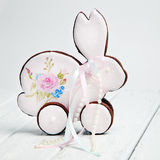 Gingerbread cookies for the feast of Easter with eggs Stock Image