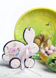 Gingerbread cookies for the feast of Easter with eggs Royalty Free Stock Images