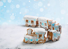 Gingerbread Cookies in the form of train Stock Image