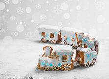 Gingerbread Cookies in the form of train Stock Images
