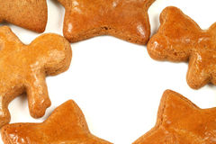 Gingerbread cookies frame Royalty Free Stock Photo