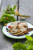 Gingerbread cookies, garden party Royalty Free Stock Photography