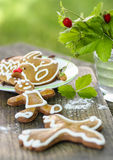 Gingerbread cookies, garden party Stock Image