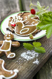 Gingerbread cookies, garden party Stock Images