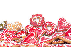 Gingerbread cookies heart Royalty Free Stock Images