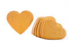Gingerbread cookies hearts Stock Photo