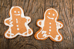 Gingerbread cookies. Homemade gingerbread cookies close up royalty free stock image