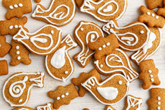 Gingerbread cookies with honey and cinnamon Stock Photo