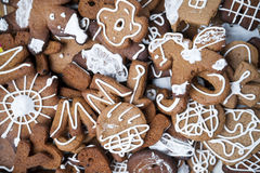Gingerbread cookies with icing Royalty Free Stock Image
