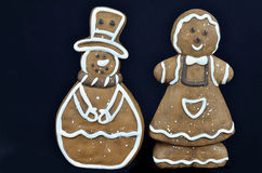 Gingerbread Cookies, isolated on Black Stock Images