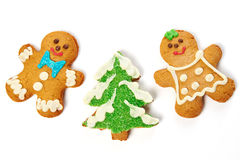 Gingerbread cookies isolated Royalty Free Stock Photo
