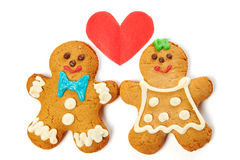 Gingerbread cookies isolated Royalty Free Stock Images