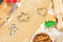 Gingerbread cookies. Making gingerbread cookies Royalty Free Stock Photography