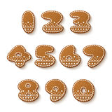 Gingerbread cookies numbers Stock Image