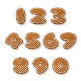 Gingerbread cookies numbers Stock Photos