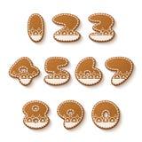 Gingerbread cookies numbers Stock Photo