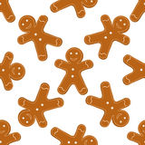 Gingerbread Cookies seamless Stock Image